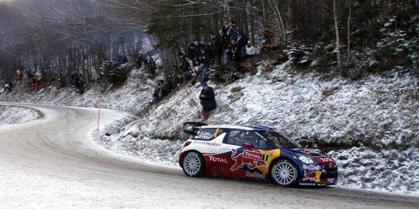 Sebastien Loeb sigue siendo el líder del Rally de Montecarlo WRC 2012