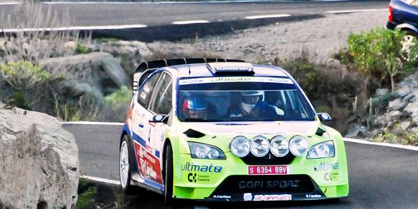 Copi Capdevila en el pasado Rally de Tenerife