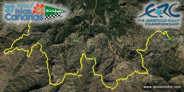 Tramos Virtuales del Rally Islas Canarias - El Corte Inglés ERC 2013