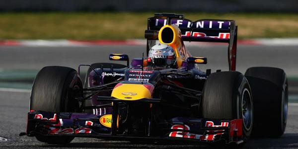 Sebastian Vettel en el circuito de Montmeló