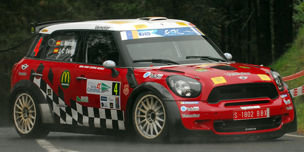 Luis Monzón en el pasado Rally Islas Canarias