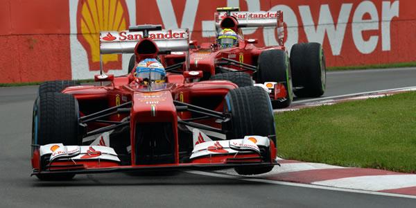 Alonso y Massa en el Gran Premio de Canadá 2013