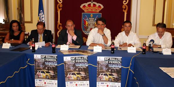 Momento de la presentación del 44 Rallye de Ferrol 2013