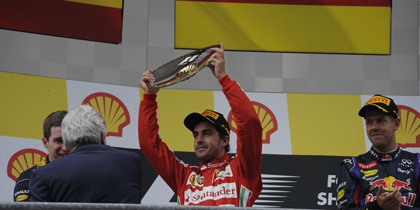 Fernando Alonso tras concluir el GP de Bélgica