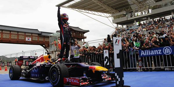 Vettel en el Gran Premio de Corea