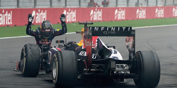 Vettel tras convertirse en tetracampeón