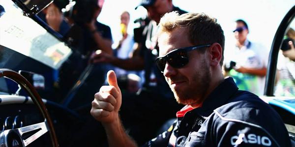 Vettel logró la pole en Brasil