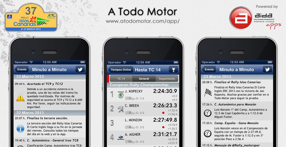 Aplicación gratuita para iOS y Android de A Todo Motor