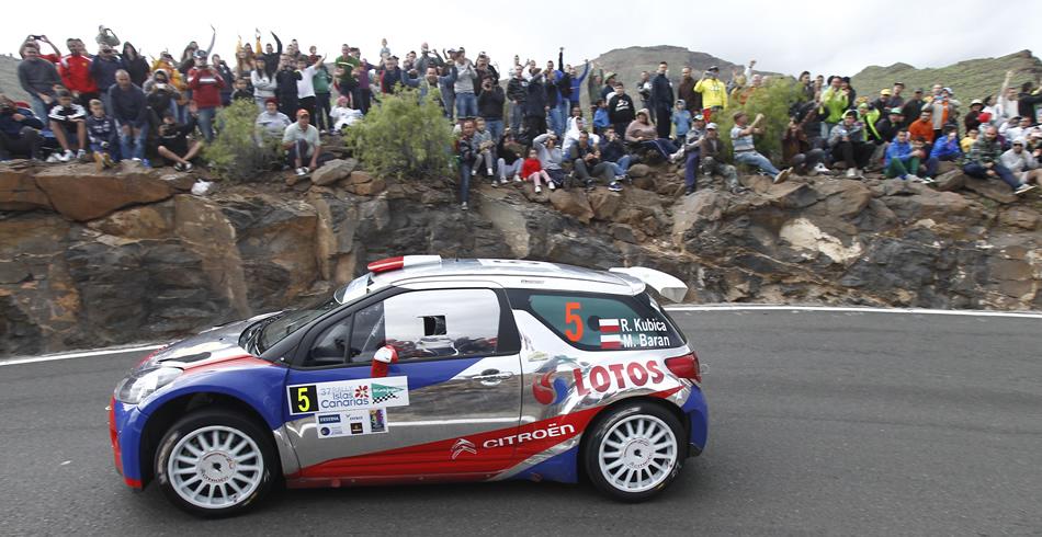 Robert Kubica en el Rally Islas Canarias El Corte Inglés ERC 2013