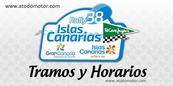 Tramos y Horarios del Rally Islas Canarias El Corte Inglés 2014
