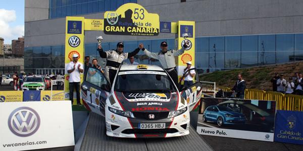 Ángel Marrero, vencedor del Rallye Gran Canaria