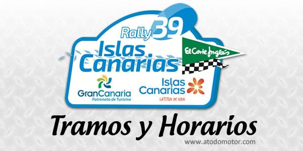 Tramos y Horarios del Rally Islas Canarias El Corte Inglés 2015
