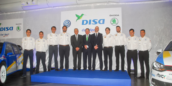 Domingo Alonso y el Disa Copi Sport, al completo