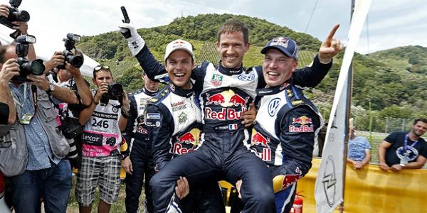 Triplete Volkswagen en el Rallye de Alemania