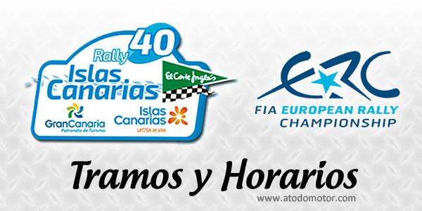 Tramos y Horarios del Rally Islas Canarias El Corte Inglés 2016