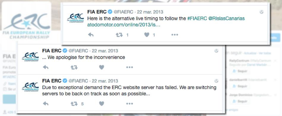 La FIA ERC anuncia la caída de sus servidores y envía a todos sus visitantes y seguidores a A Todo Motor