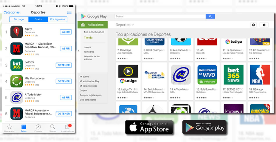 Top 5 en Apple Store y Top 15 en Google Play para A Todo Motor