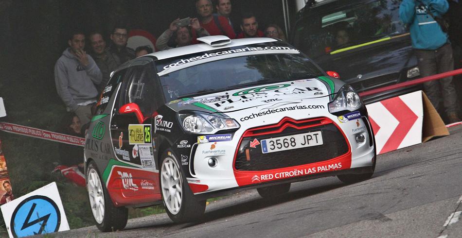 Emma Falcón en el Rally Sierra Morena