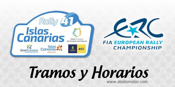 Tramos y Horarios del Rally Islas Canarias 2017
