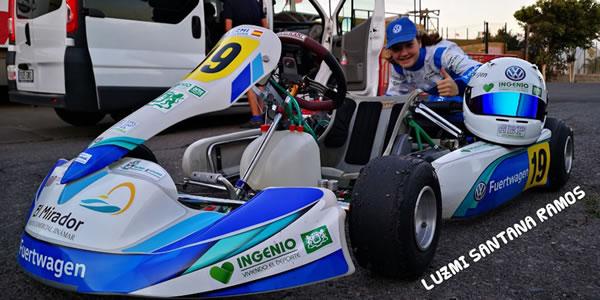 Luzmi Santana inicia su temporada de Karting