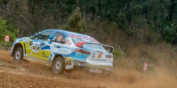 Gustavo Sosa y Víctor Pérez en el Rally Terra da Auga. Foto: Carlos Martín