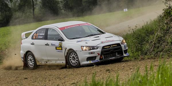 Cristian Gutiérrez en el Rally Terra da Auga