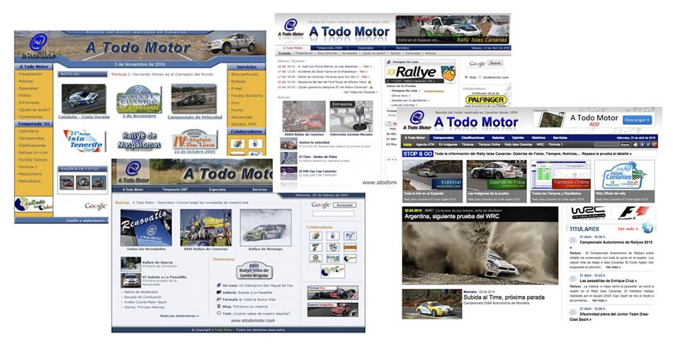 Evolución de la portada de A Todo Motor desde 2005 a 2018