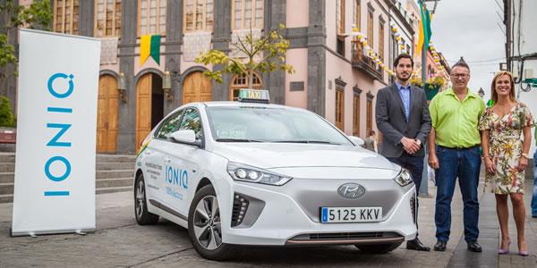 Hyundai IONIQ el primer taxi 100% eléctrico de Canarias