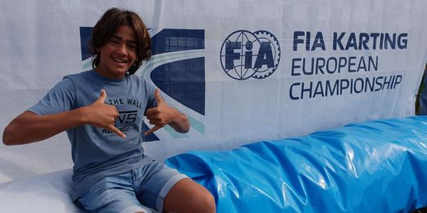 El Cpto. Europa de Karting espera a Santi Concepción Jr.