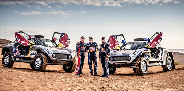 Sainz, Peterhansel y Despres con Mini en el Dakar 2019