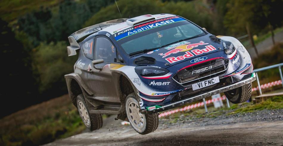 Victoria de Ogier en el Rally de Gran Bretaña