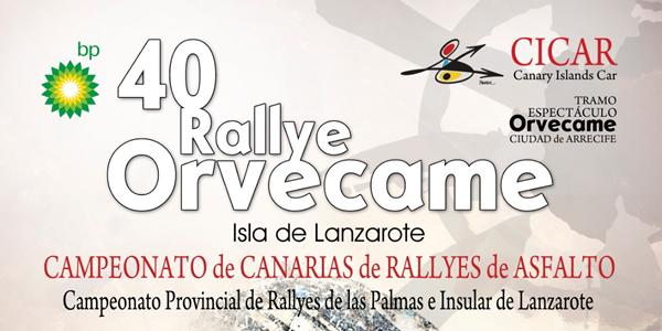 Inscritos para el Rallye Orvecame Lanzarote