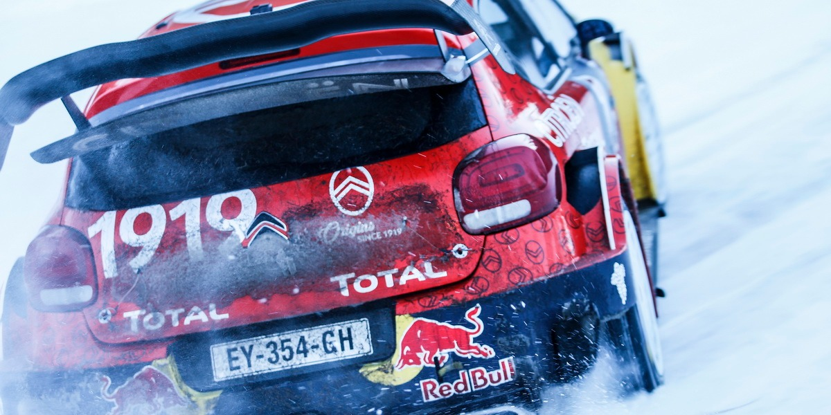 Tests de Citroën antes del Rally de Suecia 2019