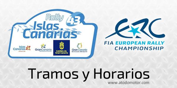 Tramos y Horarios del Rally Islas Canarias ERC 2019