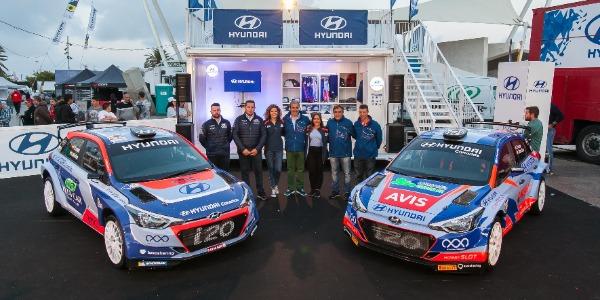 Hyundai Canarias presenta los i20 R5 de Yeray Lemes y Toñi Ponce