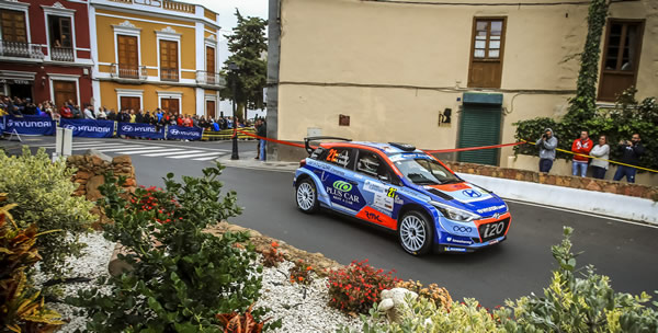 Yeray Lemes y Ariday Bonilla. Foto: FIA ERC