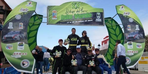 Victoria de Jesús Tacoronte y Mariola Sáez en el Rallye Isla Verde