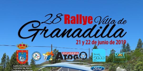 Lista Oficial de Inscritos del Rallye Villa de Granadilla