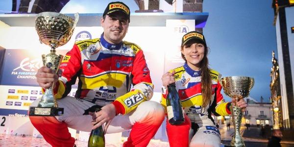 Efrén Llarena y Sara Fernández en el Rallye de Chipre