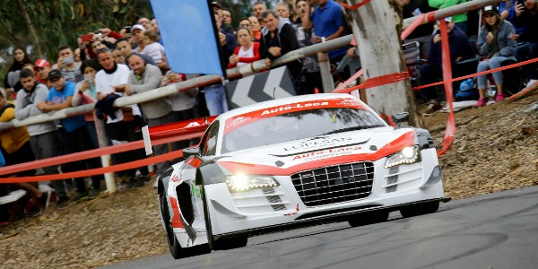 Luis Monzón con el Audi R8 LMS
