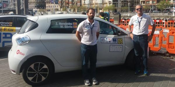 Zósimo Hernández finaliza su primer rally del Camp. Europa de E-Rallye