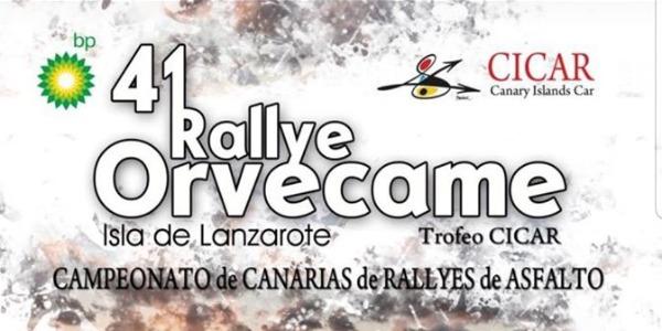 Mapa, tramos y horarios del Rallye Orvecame Isla de Lanzarote 2019