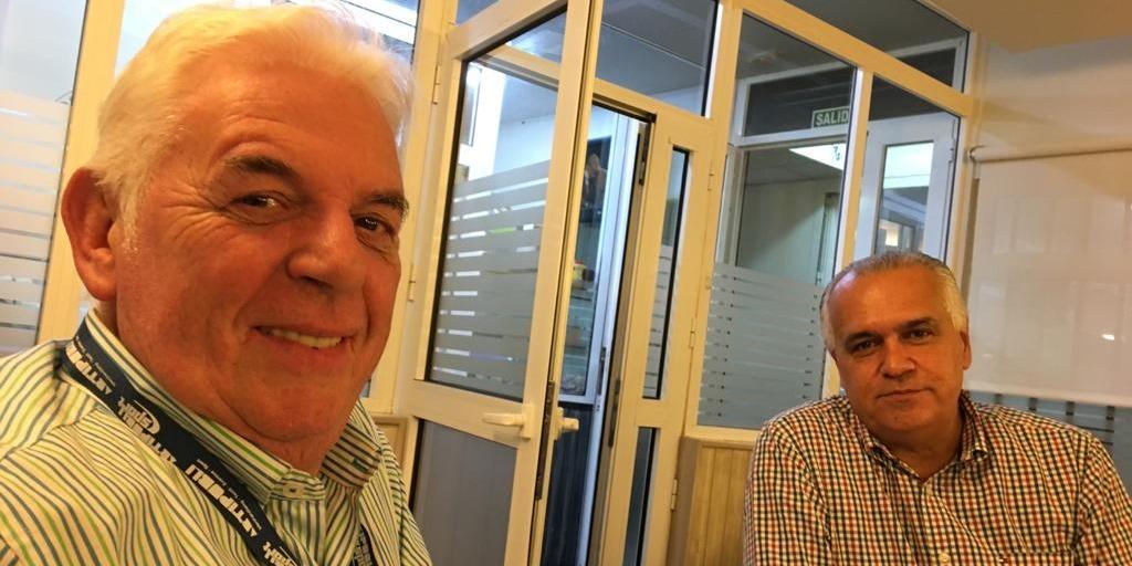 José Ramón González (izq.) y Germán Morales (der.), Presidente del Comité Organizador del Rally Islas Canarias