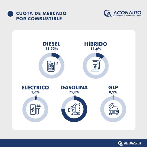 Cuota de mercado por combustible