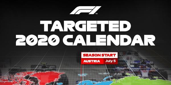 Calendario 2020 de Fórmula 1