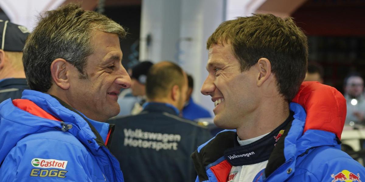 Luis Moya y Sebastien Ogier