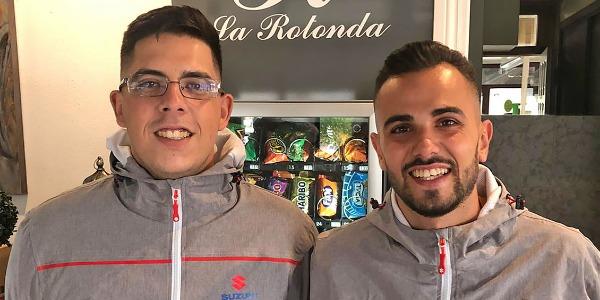 Guayasen Ortega (der.) y Daniel Quintana (izq.)