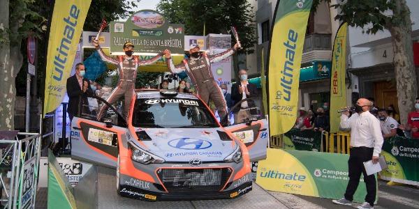Yeray Lemes y Rogelio Peñate en el Rallye Santa Brígida