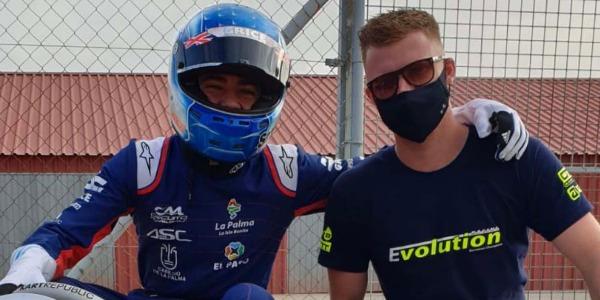 Podio de Santi Concepción Jr en la cita de Karting de Tenerife
