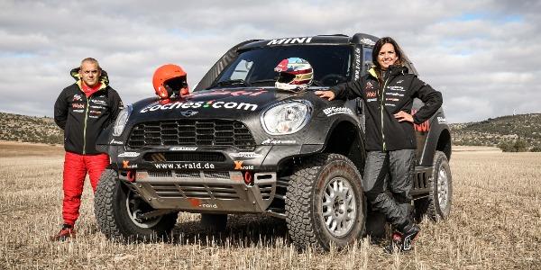 Cristina Gutiérrez preparada para debutar con el Mini ALL4 Racing